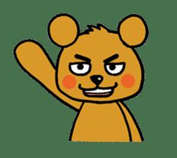 kuma-goro sticker #1006367