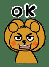 kuma-goro sticker #1006368
