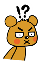 kuma-goro sticker #1006372