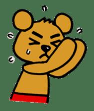 kuma-goro sticker #1006373