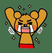 kuma-goro sticker #1006375