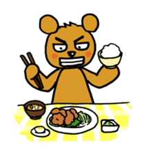 kuma-goro sticker #1006376