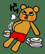 kuma-goro sticker #1006377