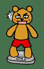 kuma-goro sticker #1006378