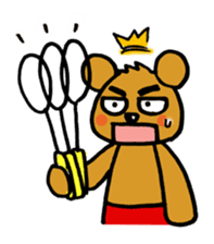 kuma-goro sticker #1006383