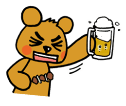 kuma-goro sticker #1006391