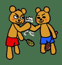 kuma-goro sticker #1006394