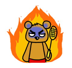 kuma-goro sticker #1006398