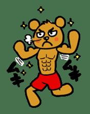 kuma-goro sticker #1006402