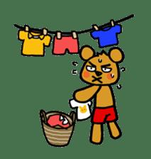 kuma-goro sticker #1006404