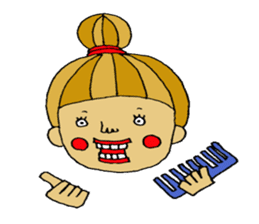 hair stylist stamp. sticker #1006531