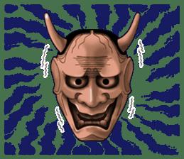 A Noh mask days Koomote and Hannya sticker #1011236