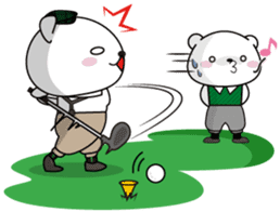 "White Bear's ""Weekend Golf Story"" sticker #1012807"