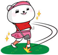 "White Bear's ""Weekend Golf Story"" sticker #1012810"