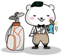 "White Bear's ""Weekend Golf Story"" sticker #1012811"