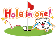 "White Bear's ""Weekend Golf Story"" sticker #1012812"