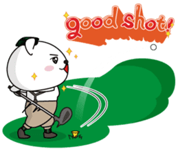 "White Bear's ""Weekend Golf Story"" sticker #1012813"