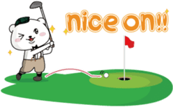 "White Bear's ""Weekend Golf Story"" sticker #1012815"