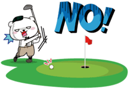 "White Bear's ""Weekend Golf Story"" sticker #1012817"