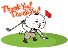 "White Bear's ""Weekend Golf Story"" sticker #1012819"