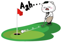 "White Bear's ""Weekend Golf Story"" sticker #1012820"