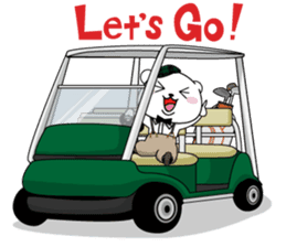 "White Bear's ""Weekend Golf Story"" sticker #1012823"