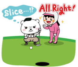 "White Bear's ""Weekend Golf Story"" sticker #1012832"