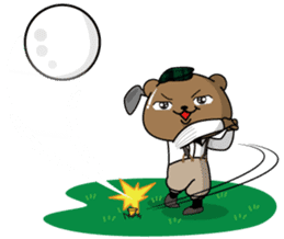 "White Bear's ""Weekend Golf Story"" sticker #1012839"