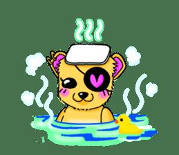 pretty bear Sticker sticker #1017020
