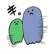 Rainbow-colored ghost sticker #1018154