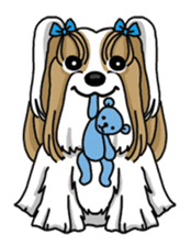 Daily life of Shih Tzu sticker #1019494