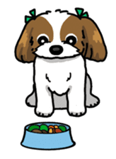 Daily life of Shih Tzu sticker #1019497