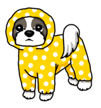 Daily life of Shih Tzu sticker #1019499