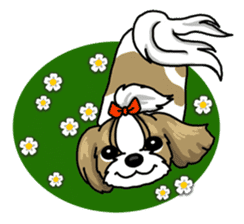 Daily life of Shih Tzu sticker #1019501