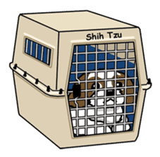 Daily life of Shih Tzu sticker #1019511
