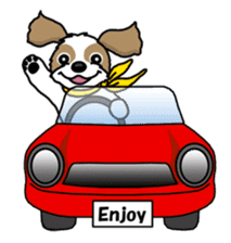 Daily life of Shih Tzu sticker #1019512