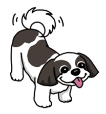 Daily life of Shih Tzu sticker #1019513