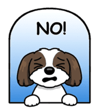 Daily life of Shih Tzu sticker #1019516