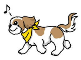 Daily life of Shih Tzu sticker #1019518