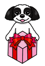 Daily life of Shih Tzu sticker #1019519