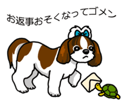 Daily life of Shih Tzu sticker #1019521