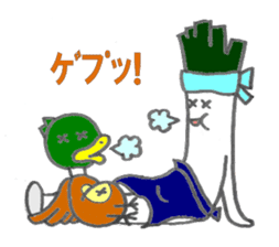 duck and green onion sticker #1021503