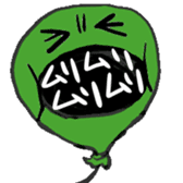 Real intention balloon sticker #1037913