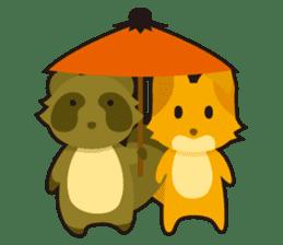 Tanuki & Kitsune sticker #1038039