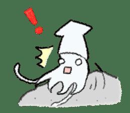 Squid boy sticker #1041514