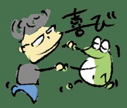 Mr. Ikeda and Johnny frog. sticker #1041902