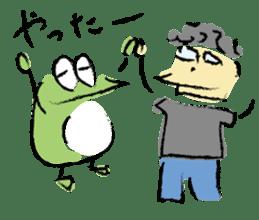 Mr. Ikeda and Johnny frog. sticker #1041904