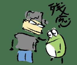 Mr. Ikeda and Johnny frog. sticker #1041905