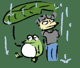 Mr. Ikeda and Johnny frog. sticker #1041907