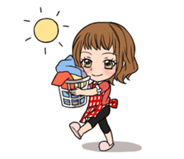 "StampGirl ""Daily Life"" English edition sticker #1043049"